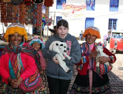 Visiting Pisac Village near Machu PIcchu