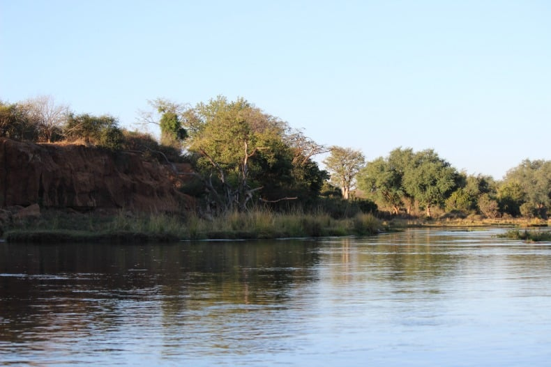 The river during our canoe safari