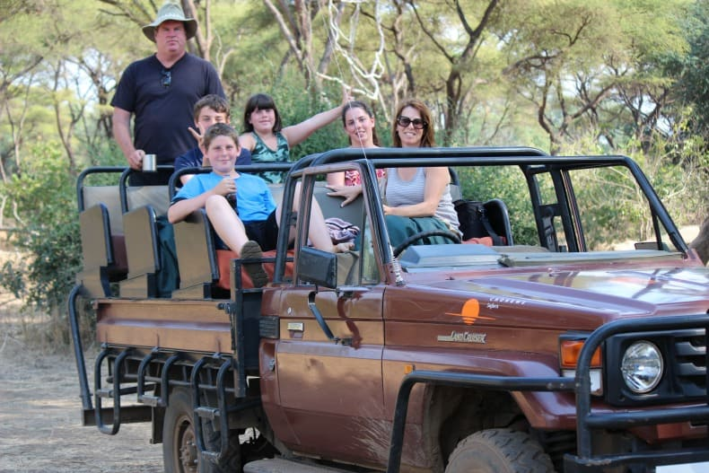 All of us hanging out in the jeep for our jeep safari.
