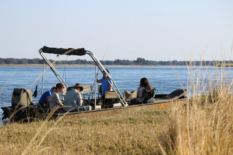 Small speed boat safari