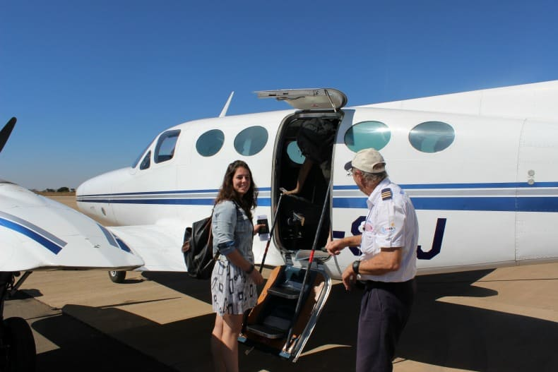 Our private flight to Chongwe River House