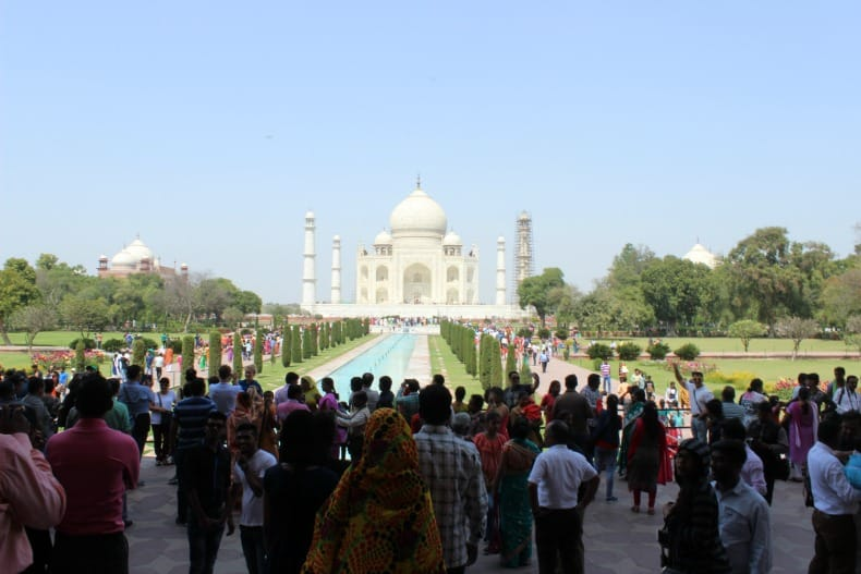 India is a very crowded place to visit. People are everywhere.