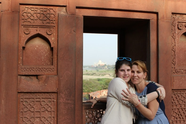 One of the best places in India to visit is the Red Fort in Agra.