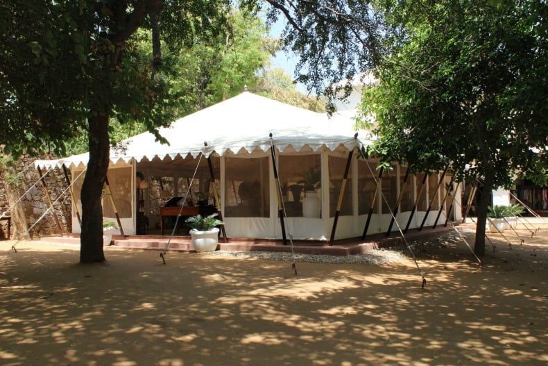 Beautiful tents await for your visit to Sher Bagh in India