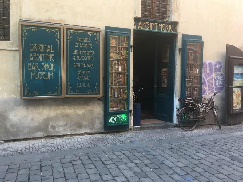 A storefront in Little Quarter in Prague