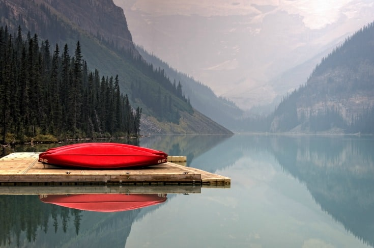 taking a canoe trip excursion on Alaskan cruises from Port of Vancouver