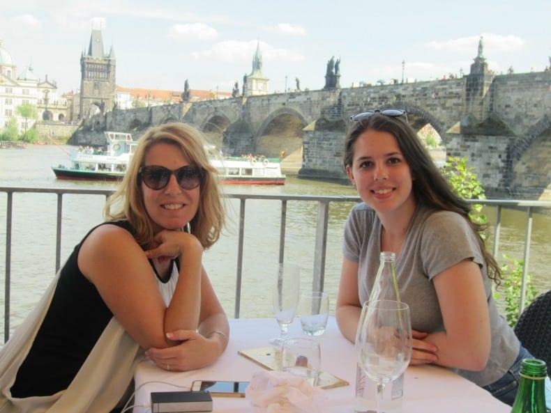 Lunch at Kampa Park restaurant in Prague