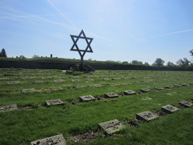 Jewish Memorial outside Terezin Prison outside Prague