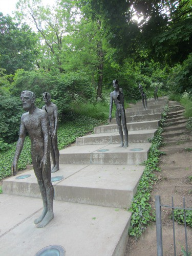 Memorial to communism in Petrin Park in Prague