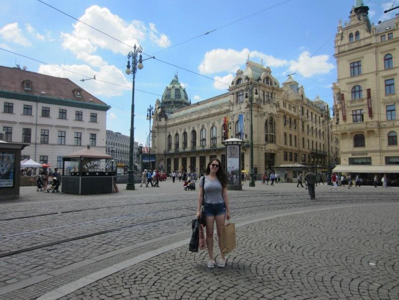 Shopping in Prague at the Palladium mall