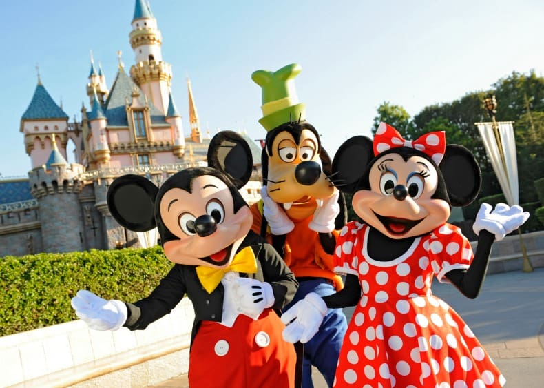 Disneyland, an amusement park in California.