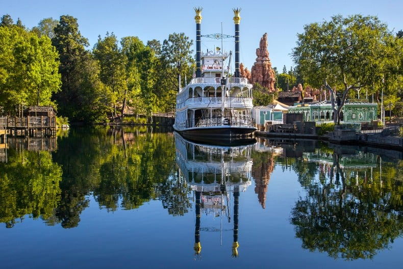 Frontierland is an area of Disneyland, an amusement park.