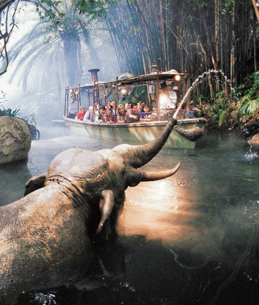 The Jungle Cruise ride at Disneyland, a family favourite ride at this amusement park..