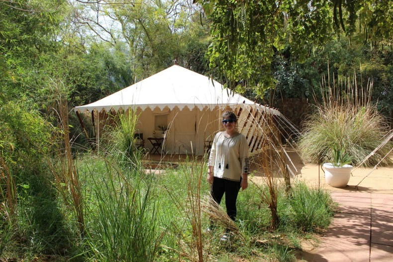Staying at Sher Bagh for our Ranthambore Safari in India