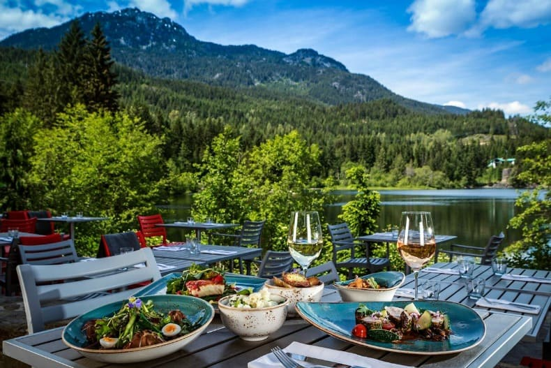 Patio dining during Whistler Summer