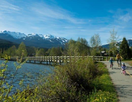 biking during Whistler Summer