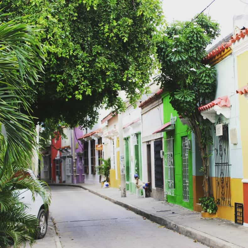 Walking the beautiful streets in Cartagena on our Colombia holidays