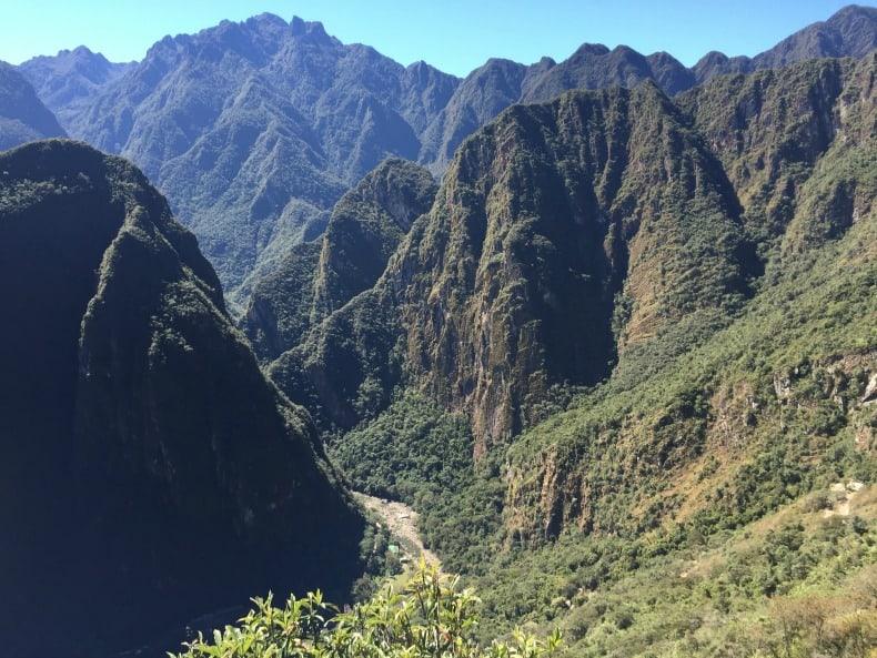 A view from our train ride to Machu Picchu in Peru.