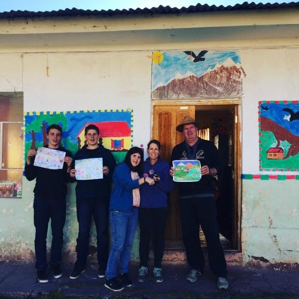 Visiting the local school in Umasbamba Village, Peru