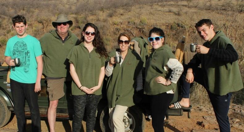 no electronics or social media during safari