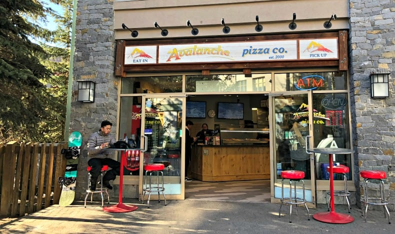 Avalanche Pizza, one of the Whistler restaurants