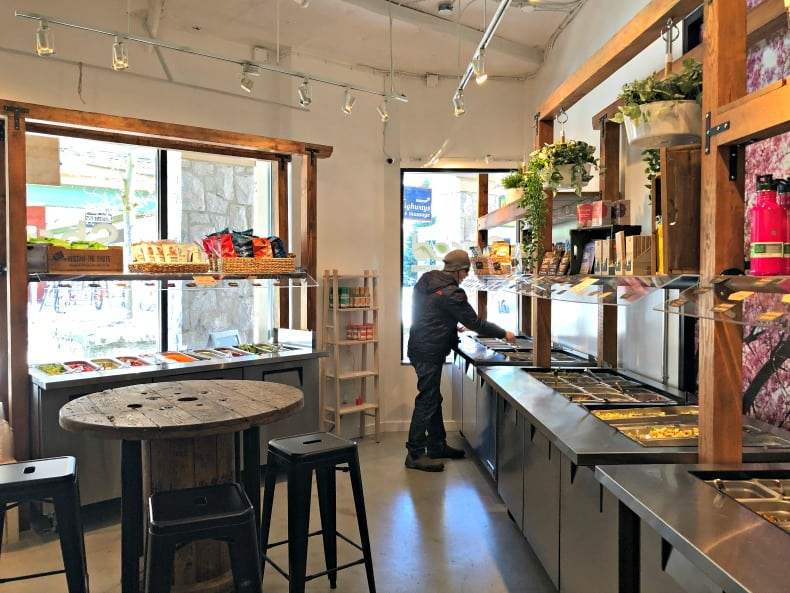 Shred Salad Bar, one of the Whistler restaurants