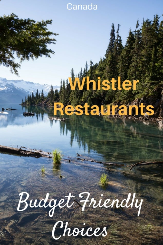 Whistler is a spectacularly beautiful resort town that is filled with thrilling winter and summer activities. But where should you eat? If you want some fantastic food at reasonable prices, look no further! Here are the Whistler restaurants that a local recommends. #travel #familytravel #adventure #Whistler #Canada| summer, British Columbia, budget, expensive, skiing, Vancouver, Blackcomb, Whistler mountain, Whistler Village