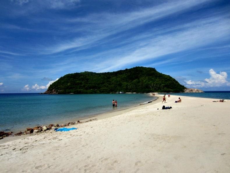 Mae Haad beach on Koh Phangan and Koh Ma