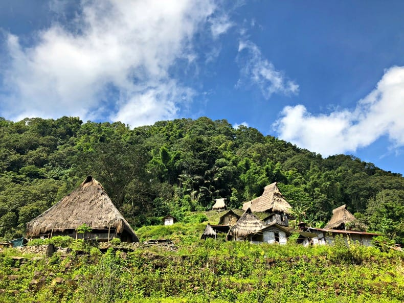 Traditional village near Indonesia volcano