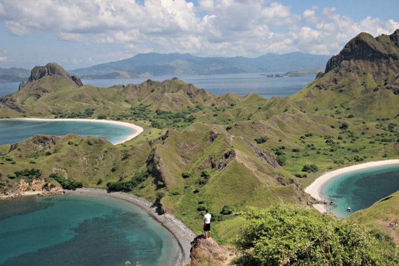 Padar Island near the komodo dragons in Indonesia