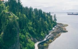 Seawall at Stanley Park in Vancouver
