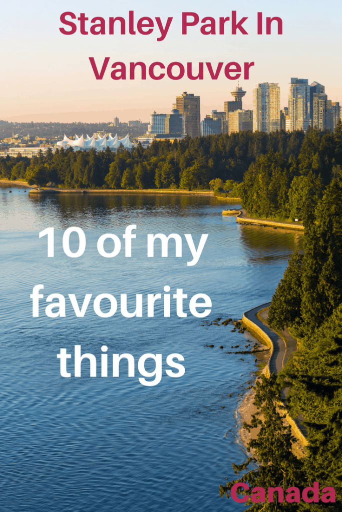 Stanley Park is a 1000 acres park in downtown Vancouver. As a local, I have been countless times and I have discovered many amazing free or inexpensive activities to enjoy. Which one are you going to do? #travel #familytravel #Vancouver #BritishColumbia |beaches, biking, Canada, First Nations, North Shore Mountains, Pacific Ocean, playgrounds, pro shop, rose garden, Seawall, Second Beach Pool, Shakespeare garden, Rhododendron garden, tennis courts, Third Beach, totem poles, train