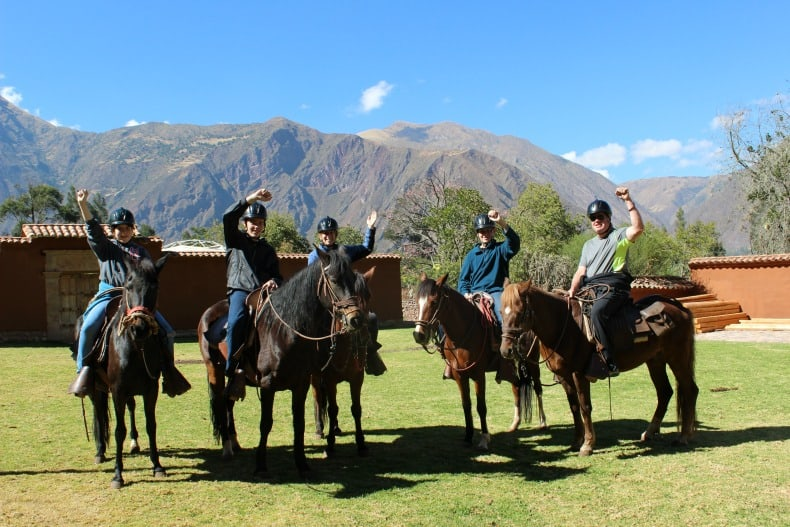 Horseback riding in the Sacred Valley near Machu PIcchu