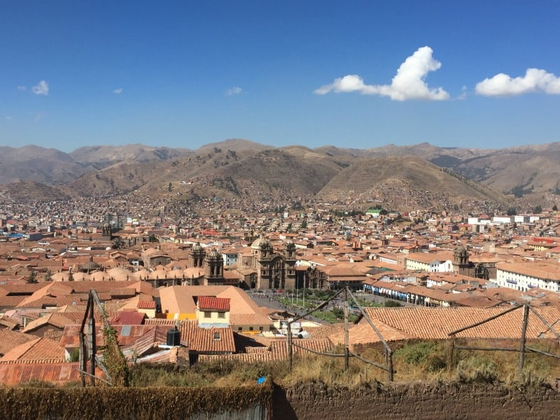 We went to Cusco after visiting Machu Picchu, Peru.