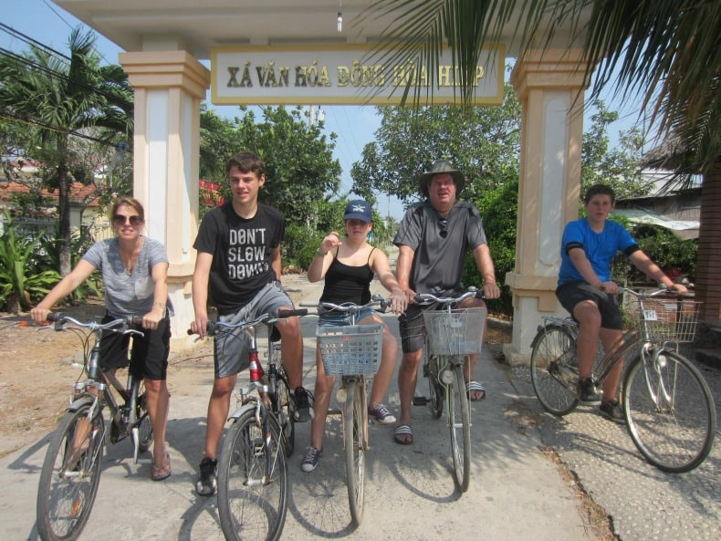 A bike ride in Vietnam is a great way to engage a family with older children.
