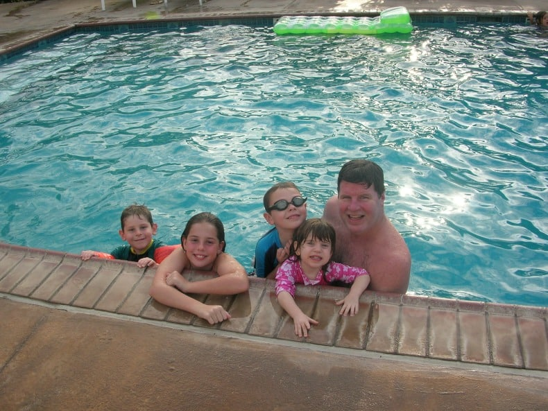Pool time is an amazing way to engage a family with young children