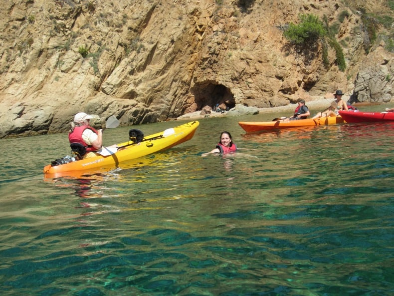 Sea Kayaking in the Mediterranean in Spain was a great way to engage a family with children of all ages.