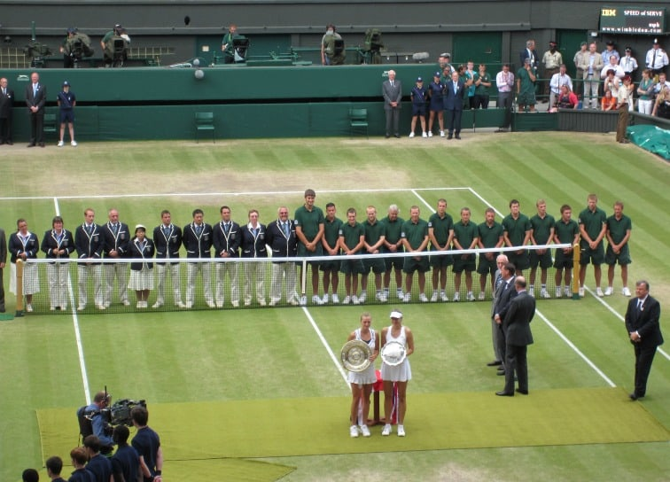 wimbledon-winner's plate awarded and wembley stadium