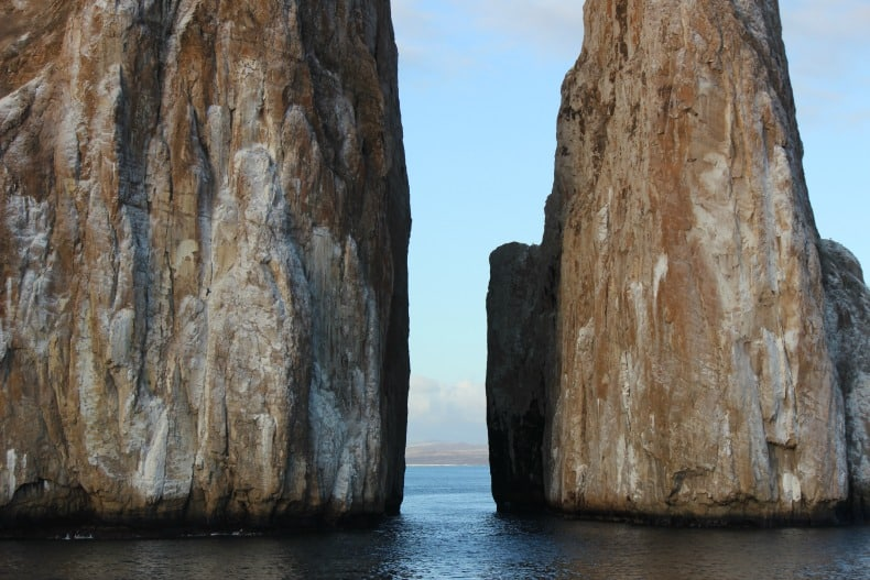 beautiful vistas while cruising the Galapagos island