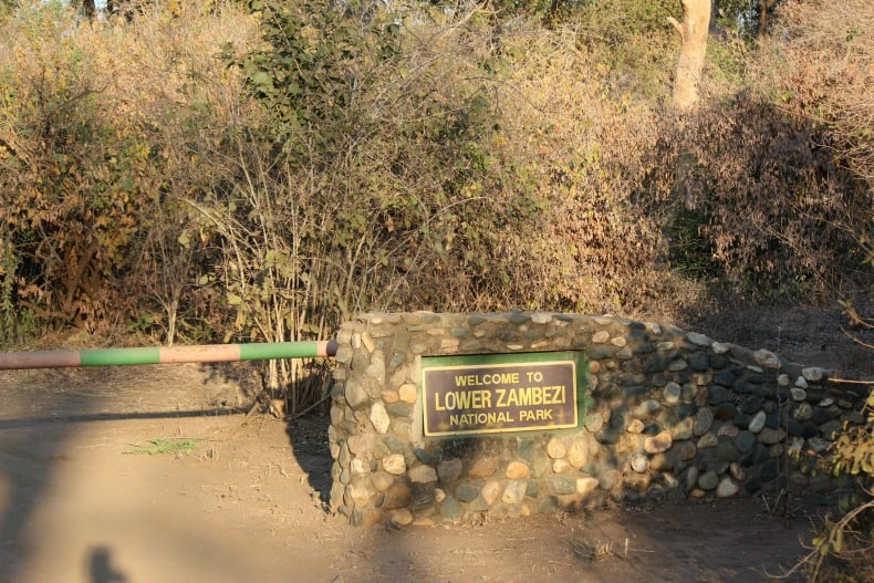 Entrance to the Park for our jeep safari