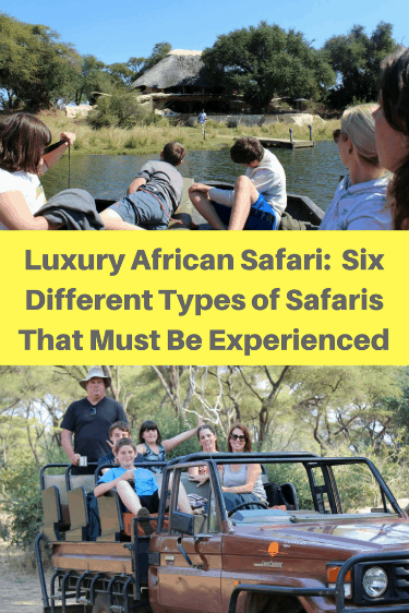 There are six different ways you can enjoy a luxury African Safari while at the Chongwe River House in Zambia. You can do a walking safari; a jeep safari; a night safari; a sunset cruise safari; a small speedboat safari; and a canoe safari