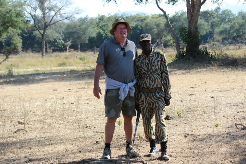 Mike and our National Guardsman on our walking safari