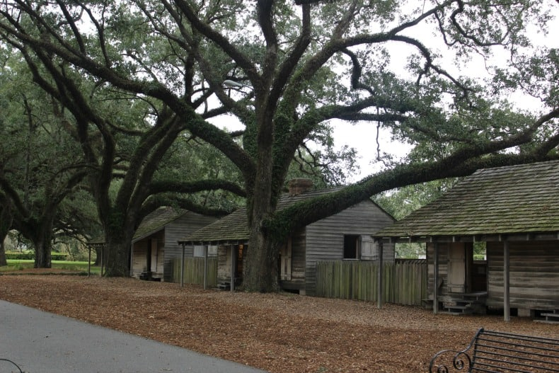 Slave Quarters on Oak Alley Planation outside New orleans