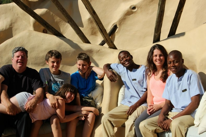 Our family at Chongwe River House