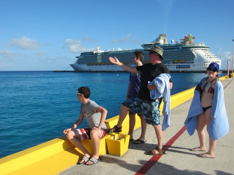 In front of our enormous and fun filled cruise in Mexico.
