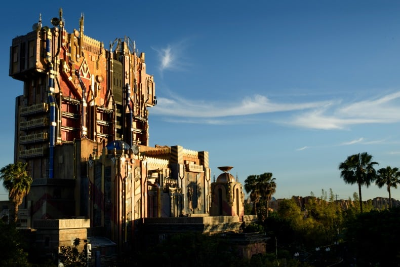 Guardians of the Galaxy is a ride at Disney California Adventure, an amusement park