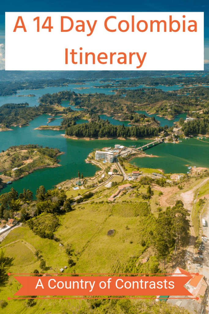 Colombia is a beautiful untouched country filled with culture, incredible food, beautiful nature and gorgeous beaches. This itinerary takes you to Cartagena, Medellin, Guatape, Nuqui Choco, Bogota, and Villa De Leyva. Where will you go first? #travel #familytravel #travelwtihteens #colombia #itinerary | Caribbean, El Cantil Ecolodge, El Penol, Getsemani, humpback, La Communa, Montserrate, Museu Del Oro, Pacific, Thermales, Zipaquira