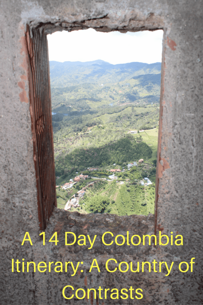 A 14 day Colombia Itinerary that took us to both the Caribbean Sea and the Pacific Ocean. We walked on untouched beaches and watched humpback whales play in the water. We tried delicious street food and ate at exceptional restaurants. Our tours of Medellin and Bogota were amazing and we loved exploring the graffiti art all over Colombia.