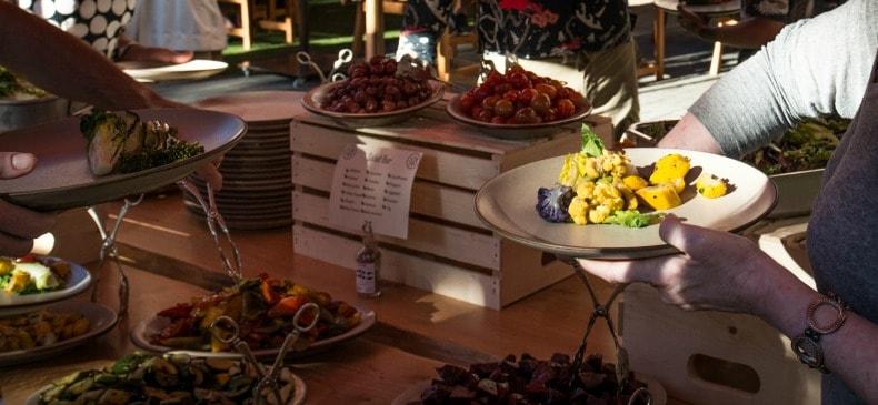 four seasons buffet during Whistler summer