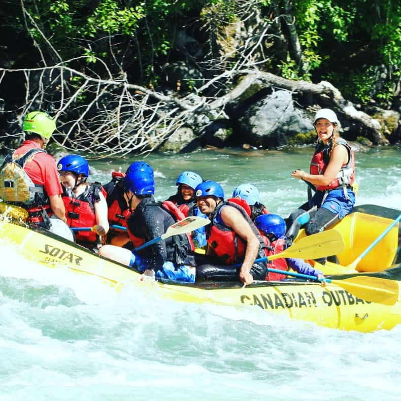 white water rafting during Whistler Summer
